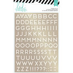 Heidi Swapp - Wanderlust Collection - Memorydex - Foil Sticker Kit - Alphabets - Gold