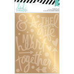 Heidi Swapp - Wanderlust Collection - Memorydex - Foil Sticker Kit - Together - Gold