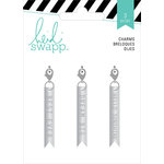 Heidi Swapp - Wanderlust Collection - Metal Charms - Flags