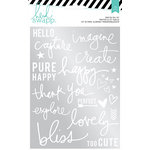 Heidi Swapp - Wanderlust Collection - Foil Rub On Kit - Capture