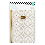 Heidi Swapp - Wanderlust Collection - 5 x 7 Journal - Gold Foil