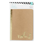 Heidi Swapp - Wanderlust Collection - 5 x 7 Journal - Kraft Foil