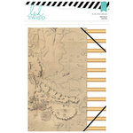 Heidi Swapp - Wanderlust Collection - 6 x 8 Portfolio Folder - Gold Foil