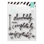 Heidi Swapp - Wanderlust Collection - Clear Acrylic Stamps - Memorydex