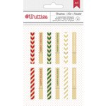 American Crafts - Christmas - Clothespins - Merry Christmas