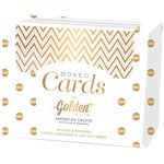 American Crafts - Boxed Card Set - Golden - Gold Foil