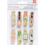 American Crafts - Whittles - Decorated Clothespins - Travel