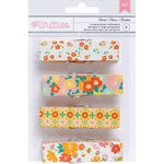American Crafts - Whittles - Decorated Clothespins - Floral