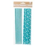 American Crafts - DIY Party - Party Straws - Blue