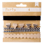 American Crafts - DIY Party - Decorative Trims - Black and Kraft