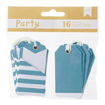 American Crafts - DIY Party - Pocket Tags - Blue