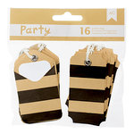 American Crafts - DIY Party - Pocket Tags - Black and Kraft