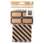 American Crafts - DIY Party - Treat Bags and Labels - Black and Kraft