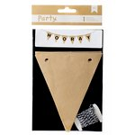 American Crafts - DIY Party - Banner Kit - Black and Kraft