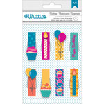 American Crafts - Whittles - Decorated Clothespins - Birthday