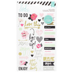 Heidi Swapp - Hello Beautiful Collection - Memory Planner - Sheer Stickers - Words and Icons, COMING SOON