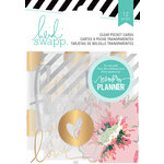 Heidi Swapp - Hello Beautiful Collection - Memory Planner - Pocket Cards - Clear, COMING SOON