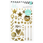 Heidi Swapp - Hello Beautiful Collection - Memory Planner - Chipboard Stickers - Foil Shapes