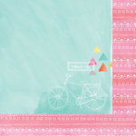 American Crafts - Amy Tangerine Collection - Rise and Shine - 12 x 12 Double Sided Paper - Ava