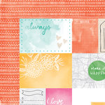 American Crafts - Amy Tangerine Collection - Rise and Shine - 12 x 12 Double Sided Paper - Emery
