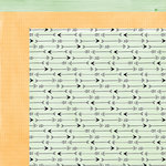 American Crafts - Amy Tangerine Collection - Rise and Shine - 12 x 12 Double Sided Paper - Amelia