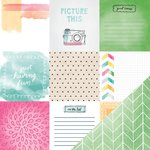 American Crafts - Amy Tangerine Collection - Rise and Shine - 12 x 12 Double Sided Paper - Emma