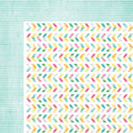 American Crafts - Amy Tangerine Collection - Rise and Shine - 12 x 12 Double Sided Paper - Lucy