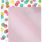 American Crafts - Amy Tangerine Collection - Rise and Shine - 12 x 12 Pink Foil Paper - Zoey