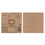 American Crafts - Amy Tangerine Collection - Rise and Shine - 12 x 12 Kraft Paper - Monroe