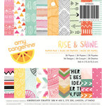 American Crafts - Amy Tangerine Collection - Rise and Shine - 6 x 6 Paper Pad