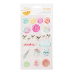 American Crafts - Amy Tangerine Collection - Rise and Shine - Epoxy Stickers