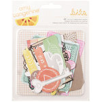 American Crafts - Amy Tangerine Collection - Rise and Shine - Ephemera With Foil Accents