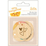 American Crafts - Amy Tangerine Collection - Rise and Shine - Wood Veneer Tags