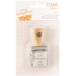 American Crafts - Amy Tangerine Collection - Rise and Shine - Rotary Phrase Stamp - Kara