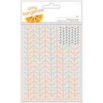 American Crafts - Amy Tangerine Collection - Rise and Shine - 4 x 6 Embossing Folder - Ava