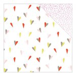 American Crafts - Dear Lizzy Collection - Fine and Dandy - 12 x 12 Double Sided Paper - Love Fest