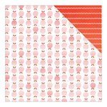 American Crafts - Dear Lizzy Collection - Fine and Dandy - 12 x 12 Double Sided Paper - Just Peachy