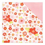American Crafts - Dear Lizzy Collection - Fine and Dandy - 12 x 12 Double Sided Paper - Paper Peonies