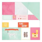 American Crafts - Dear Lizzy Collection - Fine and Dandy - 12 x 12 Paper with Foil Accents - Fine and Dandy