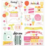 American Crafts - Dear Lizzy Collection - Fine and Dandy - Cardstock Stickers - Accent and Phrase