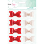 American Crafts - Dear Lizzy Collection - Fine and Dandy - Plastic Glitter Bows