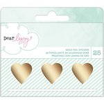 American Crafts - Dear Lizzy Collection - Fine and Dandy - Roll Stickers - Gold Foil Heart Decals