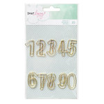American Crafts - Dear Lizzy Collection - Fine and Dandy - Paperclips - Gold Numbers