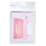American Crafts - Dear Lizzy Collection - Fine and Dandy - Cards and Envelopes - Typewriter