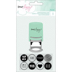 American Crafts - Dear Lizzy Collection - Fine and Dandy - Rubber Stamps - Interchangeable