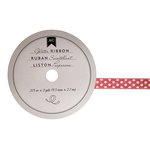 American Crafts - Glitter Ribbon - Pink Dot - 0.325 Inch - 3 Yards