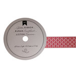 American Crafts - Glitter Ribbon - Pink Lattice - 0.825 Inch - 3 Yards