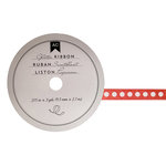 American Crafts - Glitter Ribbon - Red Dot - 0.325 Inch - 3 Yards
