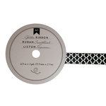 American Crafts - Glitter Ribbon - Black Lattice - 0.625 Inch - 3 Yards