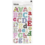 American Crafts - Thickers - Eric - Chipboard Alpha Stickers - Multicolored